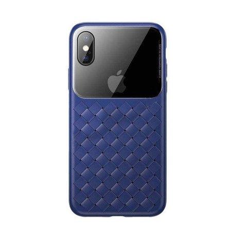 Чехол iPhone XS Max Baseus Weaving Case /blue/