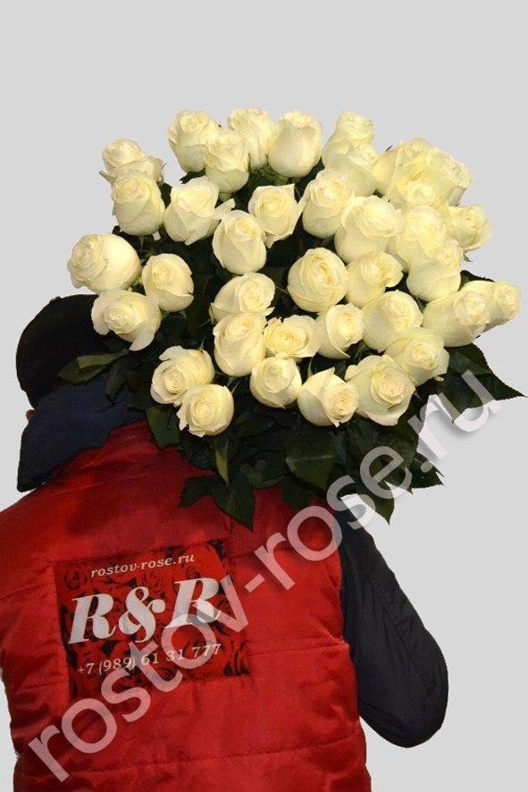 Букет 25 белых роз (Эквадор)