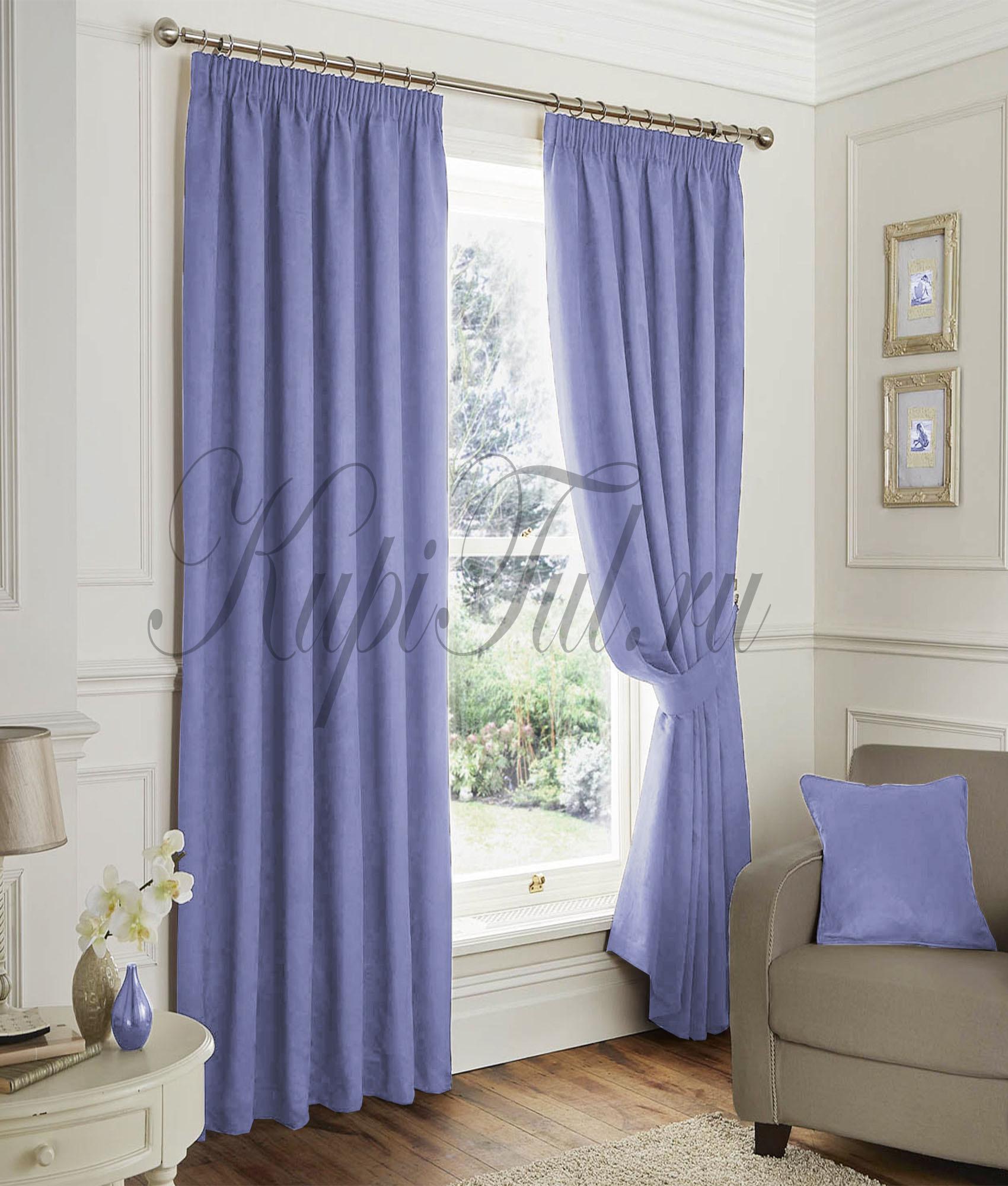 Elton (Голубой). Готовые шторы.