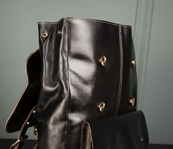 BAG470-2 Кожаный мужской городской рюкзак фото 07