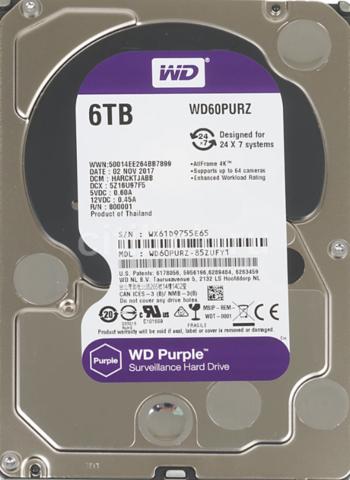 6 ТБ Жесткий диск WD Purple [WD60PURZ]