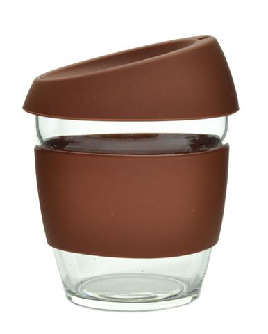 Кружка Coffee Cup из боросиликатного стекла 226 мл. коричневый