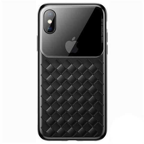 Чехол iPhone XS Max Baseus Weaving Case /black/