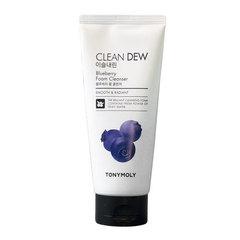 Tony Moly Clean Dew Foam Cleanser Blueberry - Пенка для умывания для комбинированной кожи лица с черникой