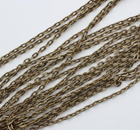 Цепь (цвет - античная бронза) 7х4 мм, примерно 10 м