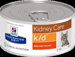 Ветеринарный корм для кошек при заболеваниях почек Hill`s Prescription Diet k/d фарш с курицей