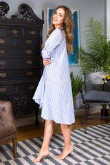 Стильное домашнее платье Cindy голубое
