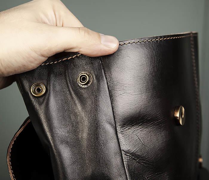 BAG470-2 Кожаный мужской городской рюкзак фото 08