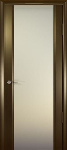 Дверь Океан Шторм-3, стекло белое, цвет венге, остекленная