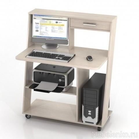 Компьютерный стол ФРЕГАТ-КC-9М беленый дуб