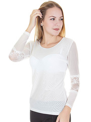 YZ8017-1 блузка женская, белая