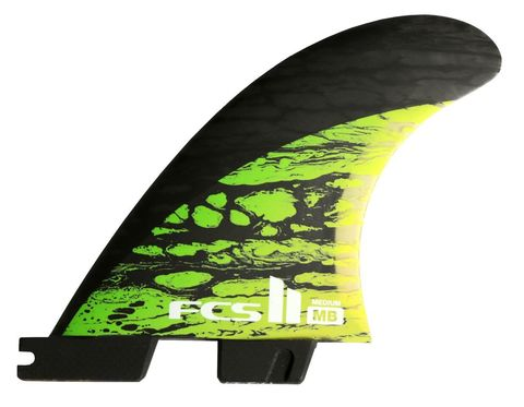 FCS II MB PC Carbon Green Medium Tri Retail Fins компл. из трех М