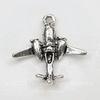 """Подвеска 3D """"Самолет"""" 23х22 мм (цвет - античное серебро)"""