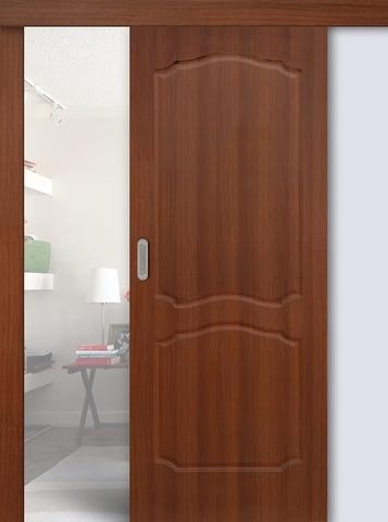 Дверь раздвижная Сибирь Профиль Классика, цвет итальянский орех, глухая