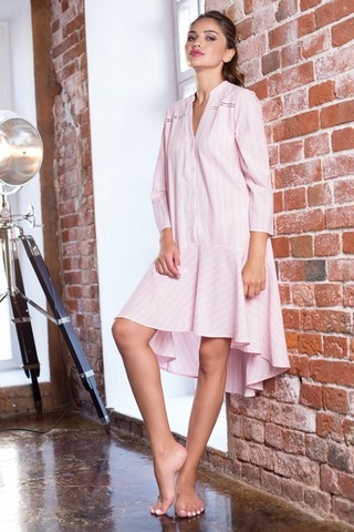 Стильное домашнее платье Cindy розовое
