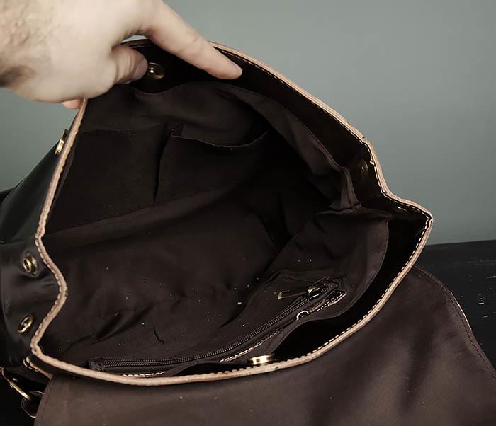 BAG470-2 Кожаный мужской городской рюкзак фото 10