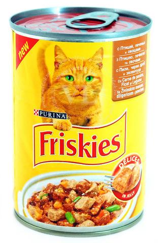 Friskies Консервы с птицей, печенью и овощами для кошек 400 г