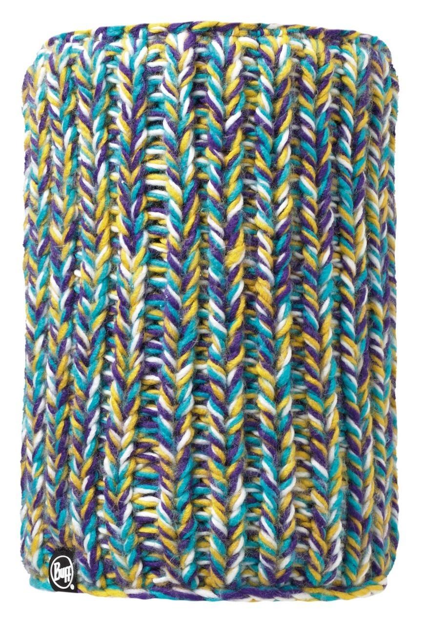 Вязаный шарф-труба с флисовой подкладкой Buff Skyler Purle Raspberry