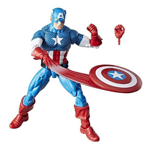 Фигурка Капитан Америка (Captain America) Ретро - Marvel Legends, Hasbro