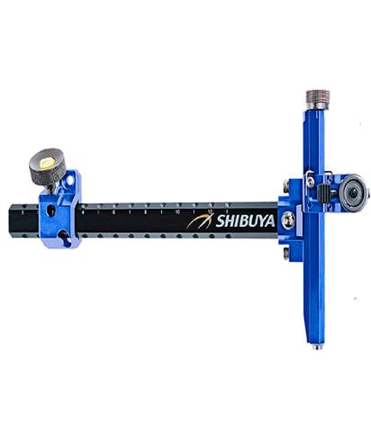 Прицел для лука спортивного Shibuya Sight 485-9 Ultima II RC Recurve Carbon Blue