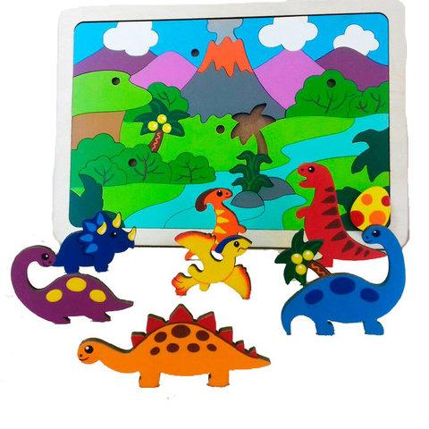 Мозаика двухуровневая Динозаврики, Крона 143-079