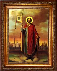 Александр Невский. Икона Святого благоверного великого князя на холсте