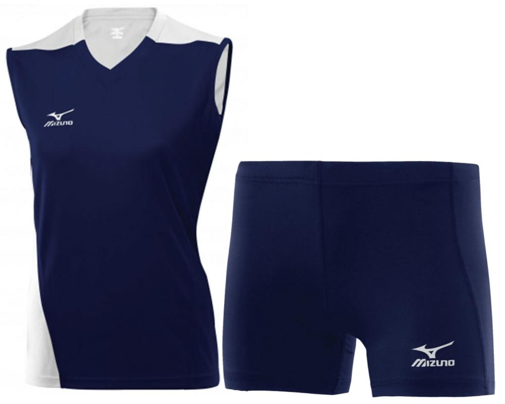 Женская волейбольная форма Mizuno Trade (79HV361M 14-79RT363M 14) синяя