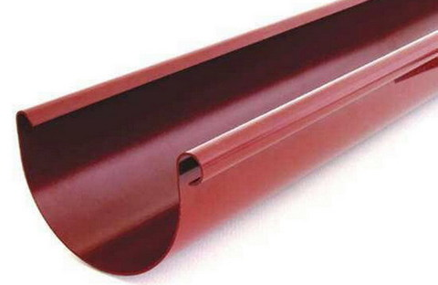 Желоб полукруглый ф 125-3м (RAL 3005-винно-красный)