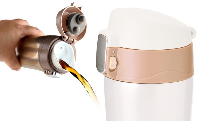 Термокружка Asobu Diva cup (0,45 литра) коричневая