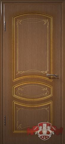 Дверь Владимирская фабрика дверей Версаль 13ДГ3, цвет орех, глухая