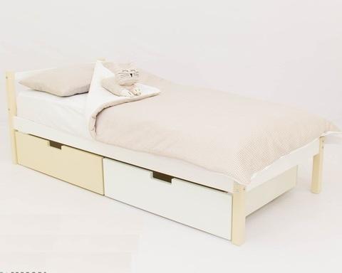 Кровать ФОРЕСТ бежево-белый
