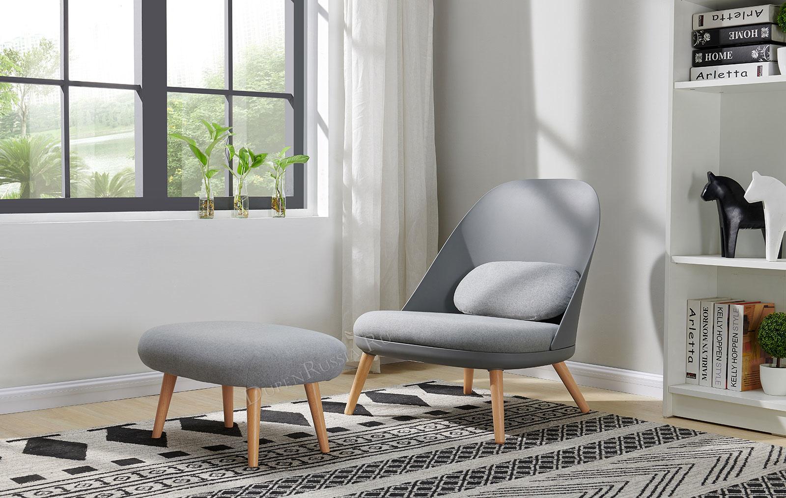 Кресло RX-12W серое HE512-10 и банкетка RX-T серая HE512-10