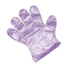 Перчатки одноразовые полиэтиленовые Premium фиолетовые (100 шт/уп)