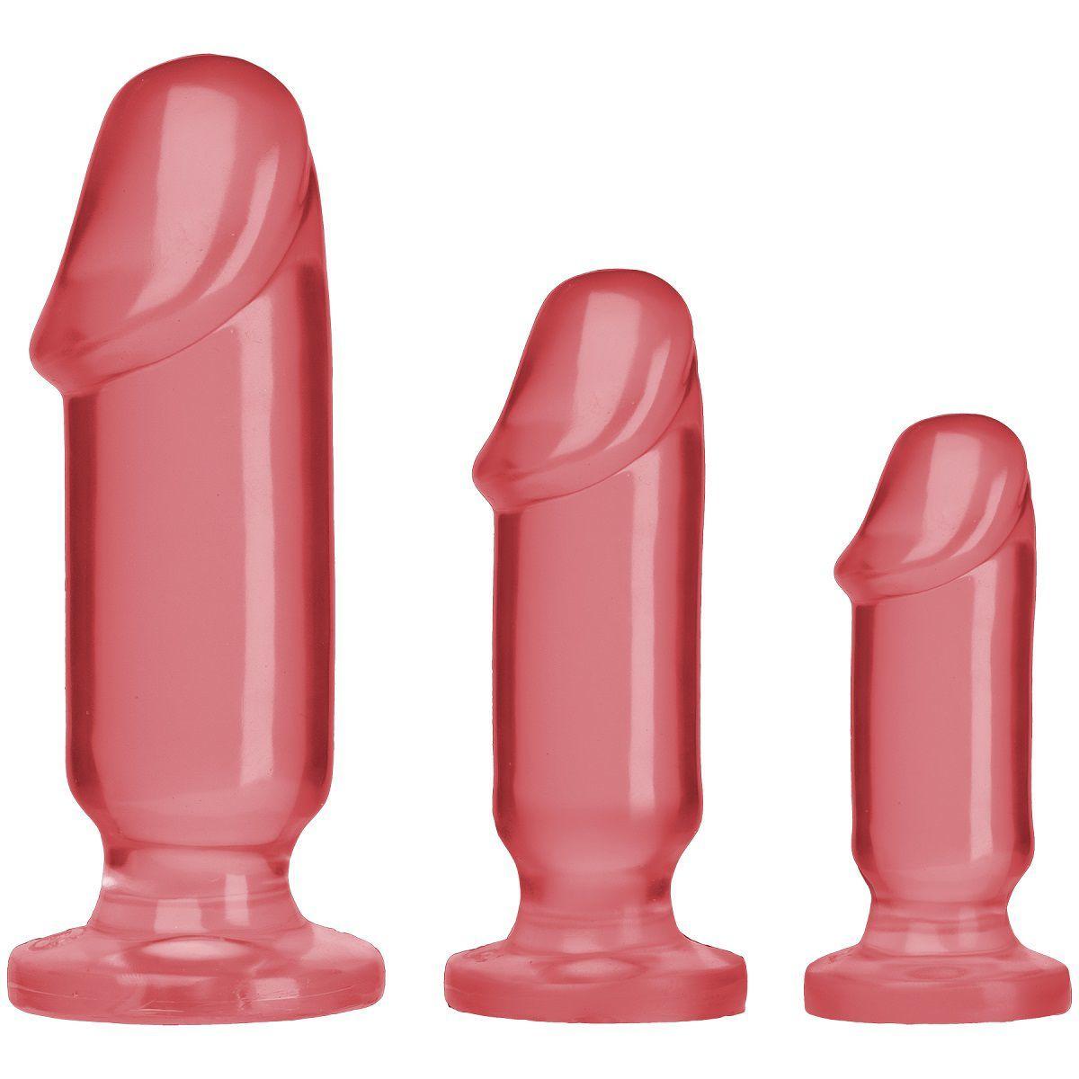 Анальные фаллоимитаторы: Набор розовых анальных фаллоимитаторов Crystal Jellies Anal Starter Kit