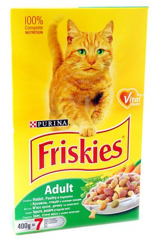 Friskies Сухой корм с мясом  и овощами для кошек 10 кг