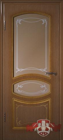 Дверь Владимирская фабрика дверей Версаль 13ДР3, цвет орех, остекленная