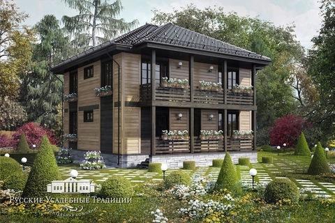 """Двухэтажный дом """"Пикабия"""" 186 кв.м."""