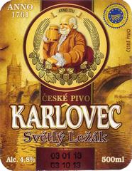 Пиво Karlovec Svetly Lezak