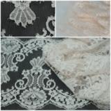 Кружево SH Chantilly Cotton Parchemin/Rose