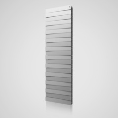 Радиатор биметаллический Royal Thermo PianoForte Tower Silver Satin (серебристый)  - 22 секции