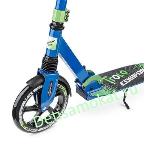 самокат trolo comfort 230 синий-зеленый