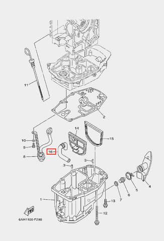 Трубка для лодочного мотора F20 Sea-PRO (22-16)