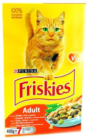 Friskies С курицей, печенью и овощами для кошек 10 кг