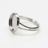 Основа для кольца с сеттингом для кабошона 12 мм (цвет - платина)