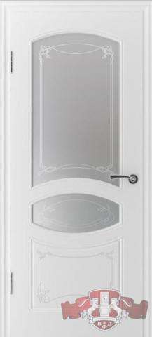 Дверь Владимирская фабрика дверей 13ДР0, цвет белая эмаль, остекленная