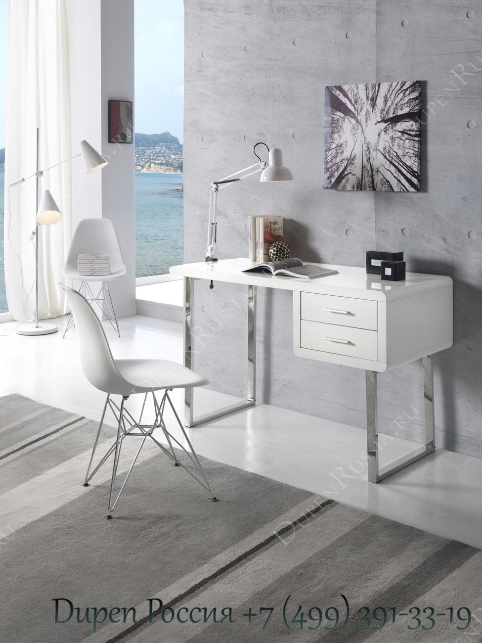 Компьютерный стол DUPEN DK-902, Стул DUPEN PC231 Белый