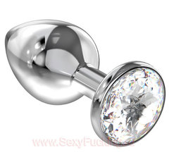 Анальный страз LOLA Diamond Clear Sparkle Small (2,8 х 6 см)