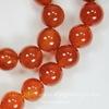 Бусина Сердолик (тониров), шарик, цвет - янтарно-коричневый, 10 мм, нить