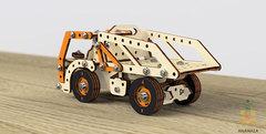 Конструктор 3D деревянный винтовой M-WOOD Грузовик-самосвал