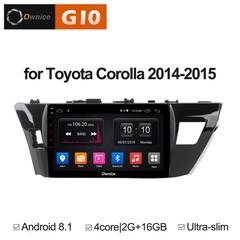 Штатная магнитола на Android 8.1 для Toyota Corolla E160 14-15 Ownice G10 S1603E